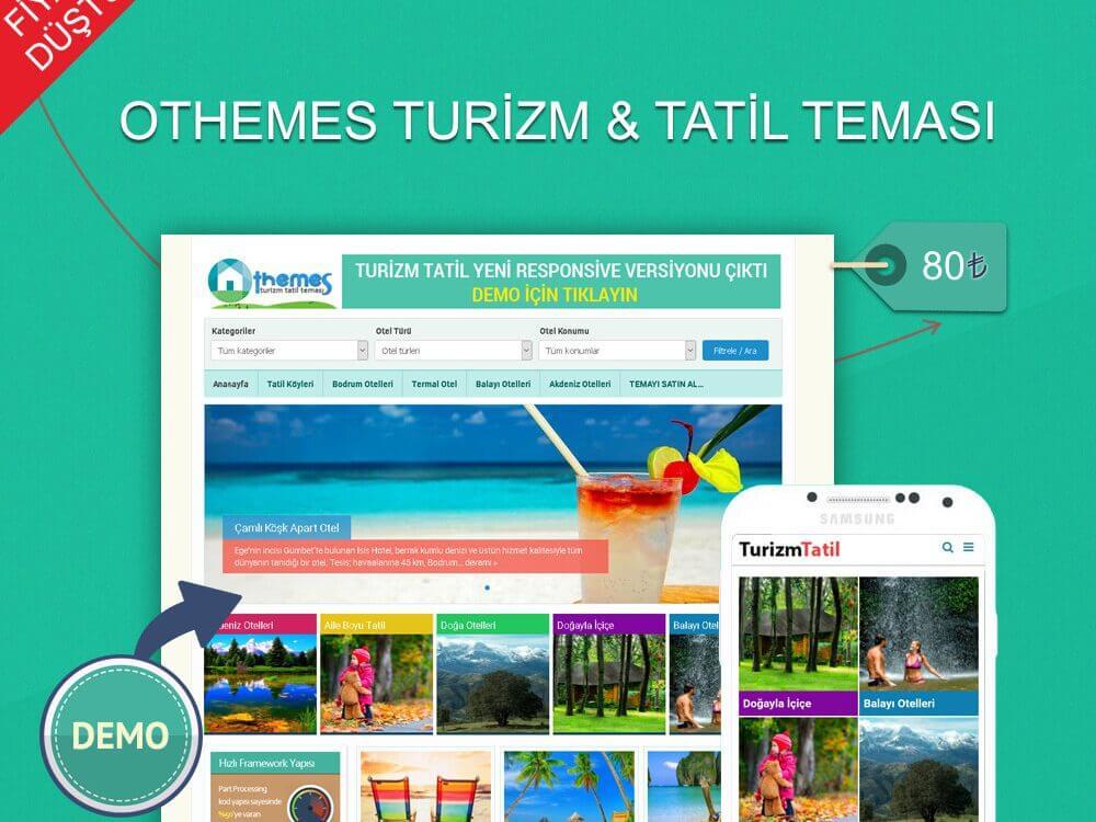 OthemesNET Turizm Tatil Teması + Mobil Tema