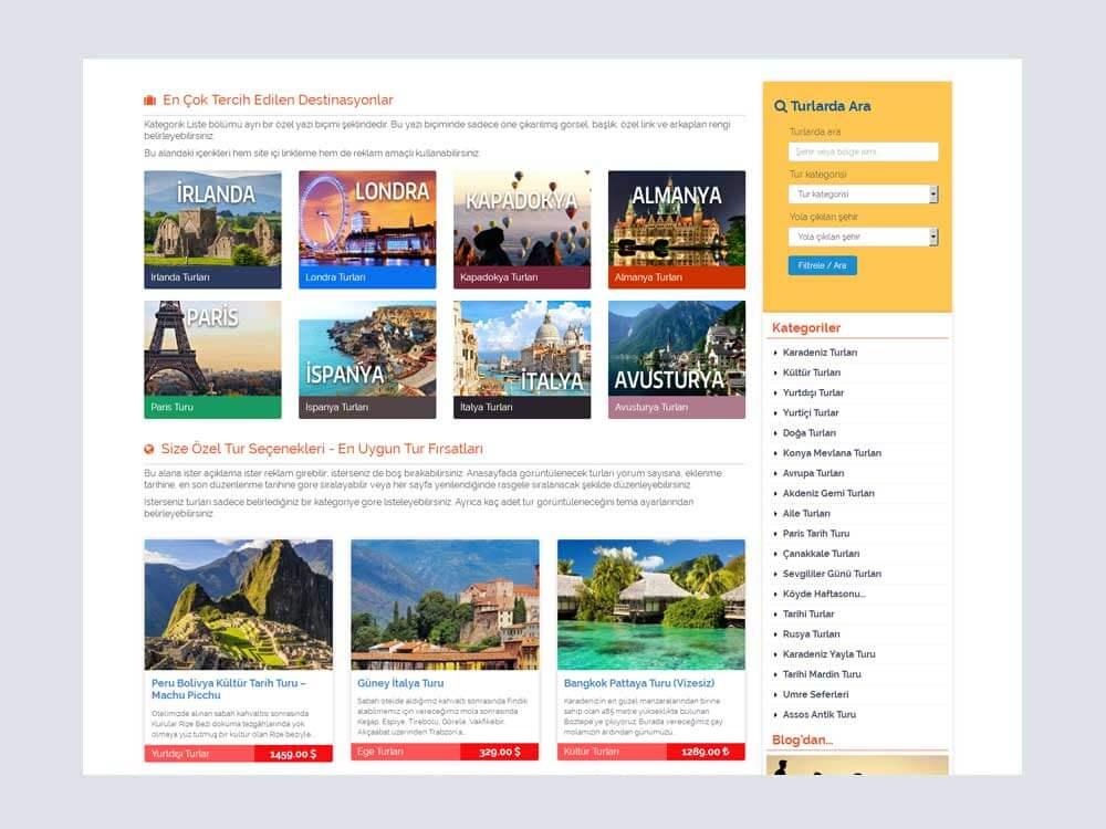 OthemesNET Turio WordPress Tur Seyahat Temasi Anasayfa 2