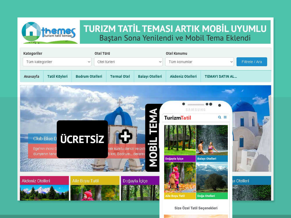 OthemesNET WordPress Turizm Tatil Teması
