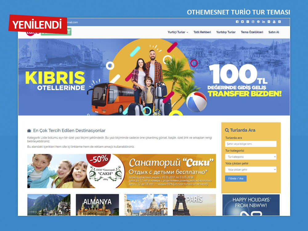 OthemesNET WordPress Turio Tur Teması