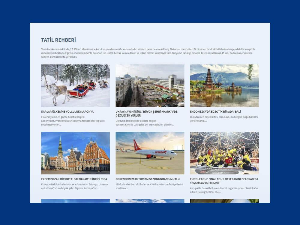 OthemesNET WordPress Turizm Tatil Temasi Responsive Blog Listesi