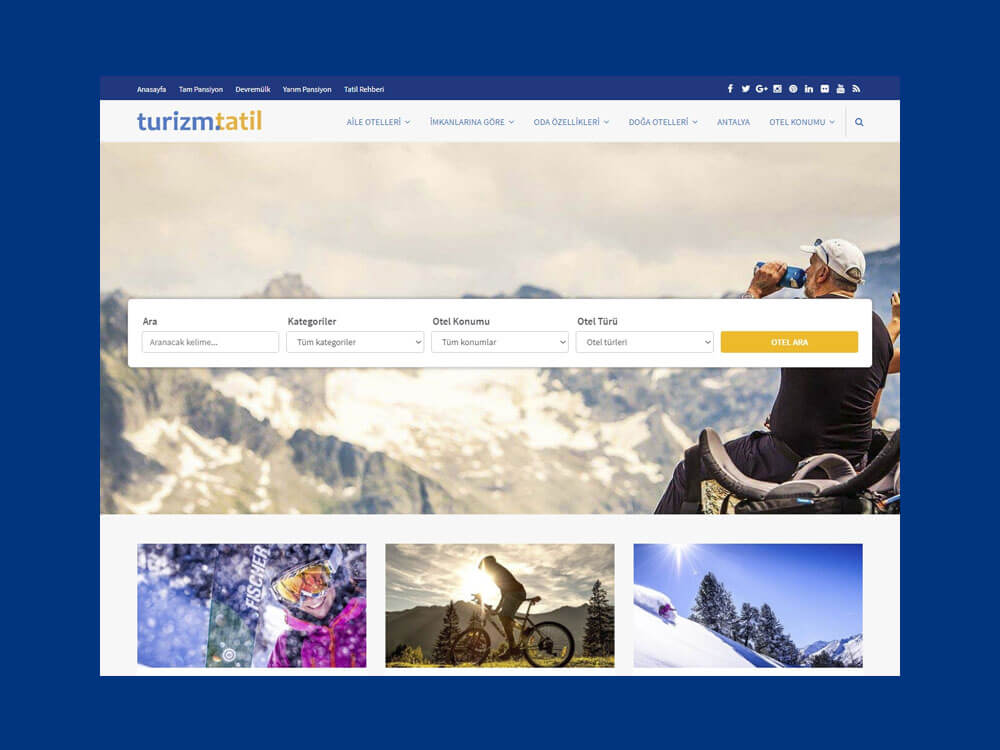 OthemesNET WordPress Turizm Tatil Temasi Responsive Slider