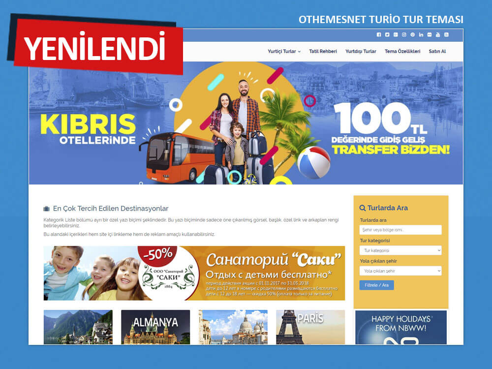 OthemesNET WordPress Turio Tur Teması