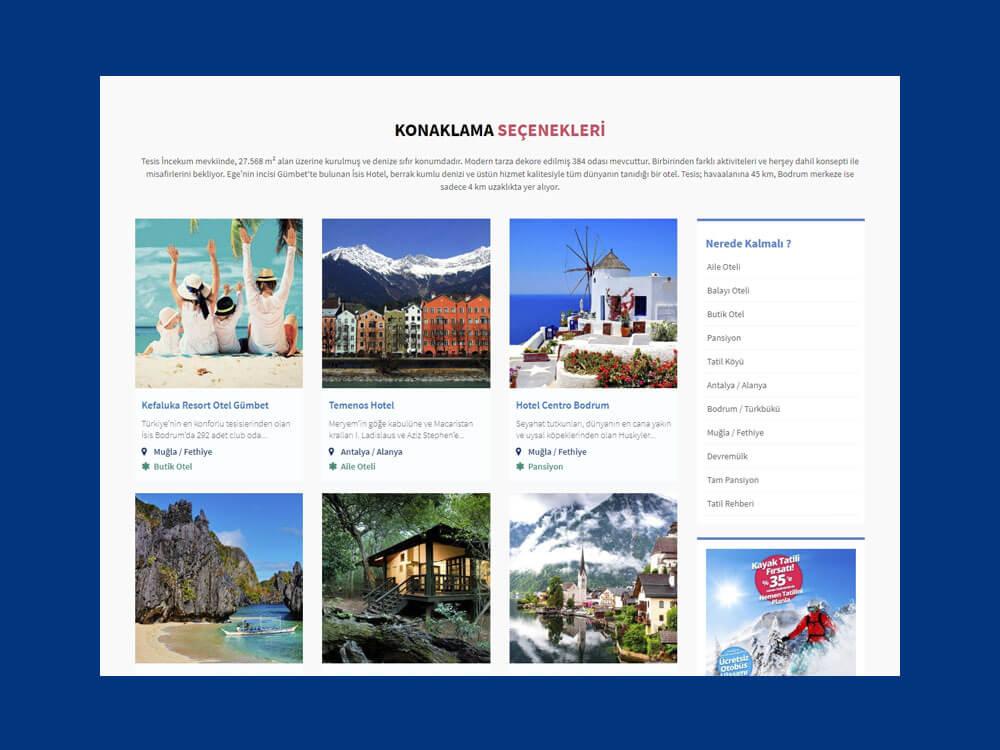 OthemesNET WordPress Turizm Tatil Temasi Responsive Otel Listesi