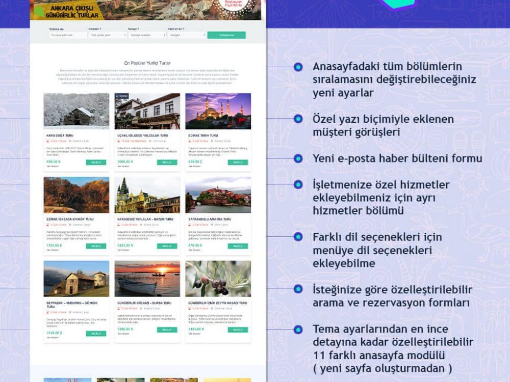 Turex Tur Acentası Teması WordPress Altyapısıyla