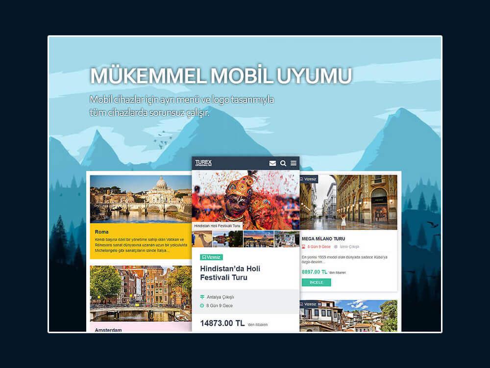 Turex WordPress Tur Temasi Mobil Uyumlu Responsive OthemesNET