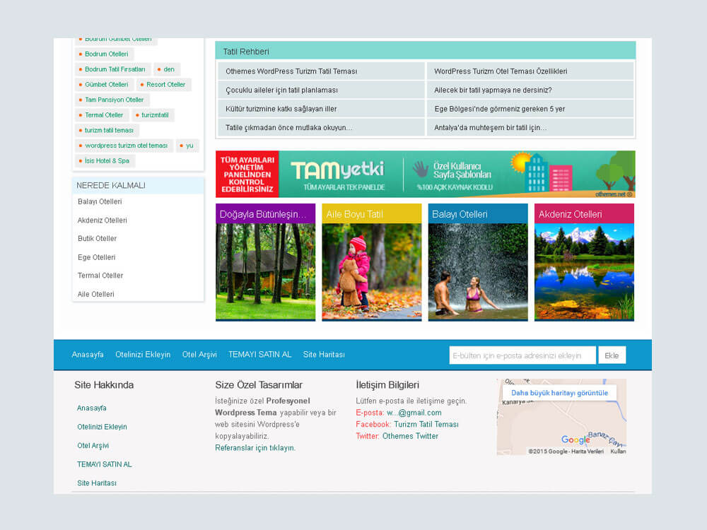 Wordpress Turizm Tatil Teması