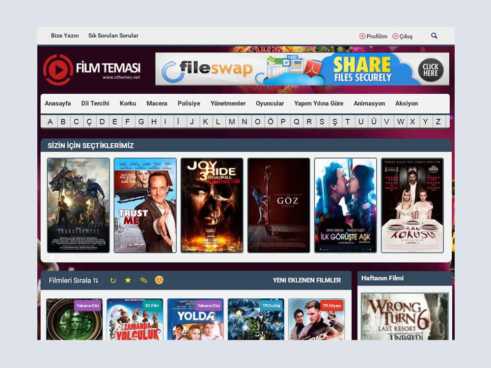 Wordpress Responsive Film Teması